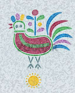 Mosaic tiles decorative pigeon