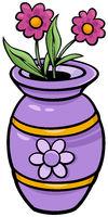 vase with flowers clip art cartoon illustration