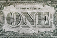 Detail of a one dollar banknote