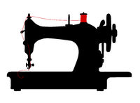 vintage sewing machine icon symbol