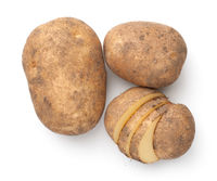 Organic Potatoes Composition Isolated Over White Background