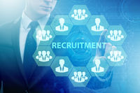 Online recruitment and job search concept