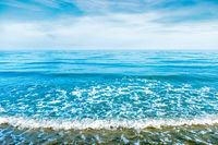 Blue sea water with waves