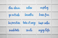 slow down and relax - healthy lifestyle concept