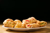 puff pastry cookies with jam