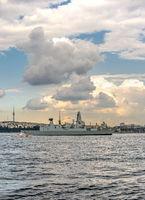 Passage of a warship through the Bosphorus Strait