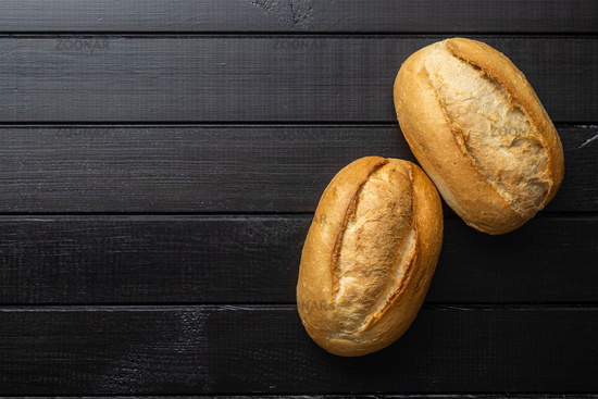 Two mini french baguettes