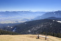 view to bavarian mountains