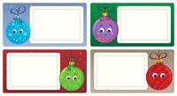 Stylized Christmas theme cards 4