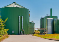 Biogas plant for power generation and energy generation during