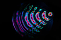 Sound waves in the dark in full color