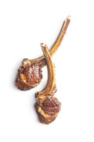 Grilled lamb chops.