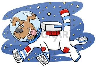 cartoon dog in space comic animal character