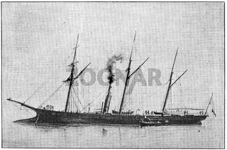 The steam 2nd-class aviso Renard (1866)
