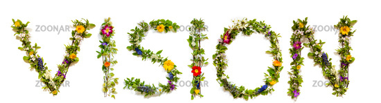 Flower And Blossom Letter Building Word Vision