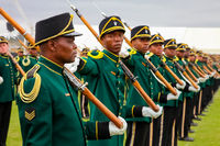 South African Defence Force soldiers on parade