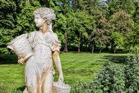 Luebbenau, Germany - 23.05.2019 - castle park with sculpture