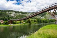 Wooden bridge in Essing