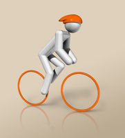 Cycling Road 3D icon, Olympic sports