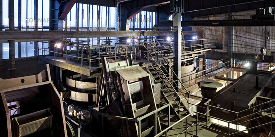 Interior view of the coal washing plant, Zeche Zollverein, Essen, Ruhr area, Germany, Europe