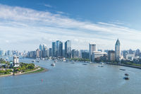 beautiful cityscape of shanghai
