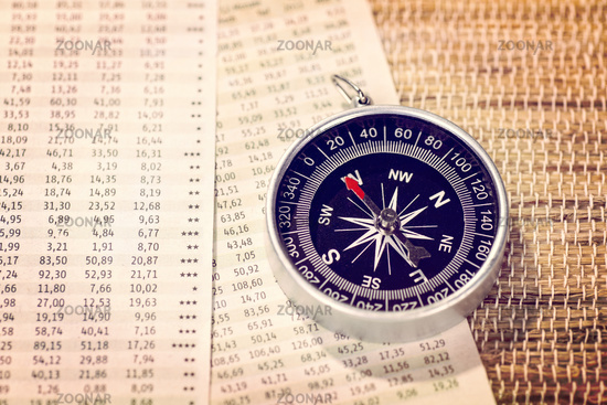 Stock market prices and compass