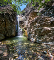 The Millomeris waterfall. Platres, Cyprus.
