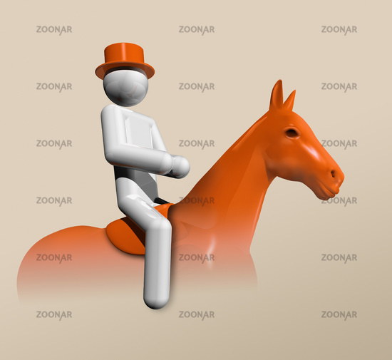 Equestrian Dressage 3D icon, Olympic sports