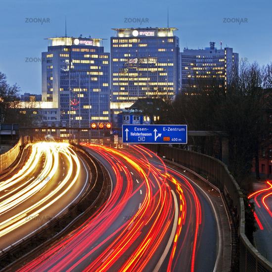 A 40 Motorway with Skyline, Essen, Germany