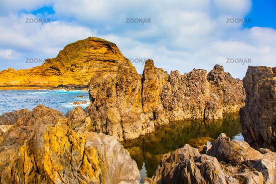 Picturesque shore of the Atlantic Ocean