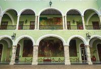 The courtyard of the 'Palacio de Gobierno', the Government Palace