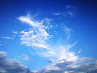 Blue sky with clouds, blue sky background.