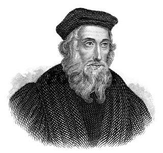 John Wyclif, an English philosopher, theologian