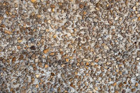 Pattern of gravel at the floor
