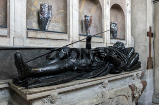 Tomb in Guardian Angels Chapel in Winchester Cathedral