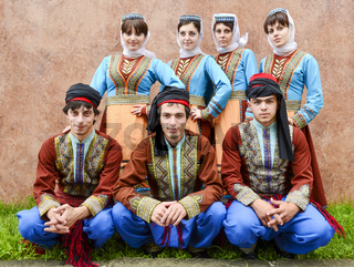 National Armenian Dances Golden Apricot guys and a girl on the holiday day of the city of Tuapse 2/07/2011