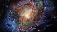 Spiral galaxy in outer space. Elements of this image furnished by NASA