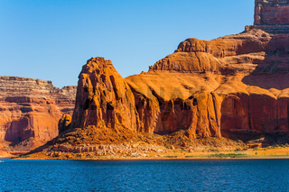 The red sandstone outcroppings