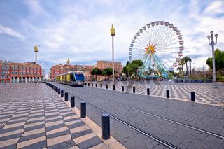 Nice giant ferris wheel and Massena square view