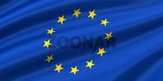 Flowing EU Flag