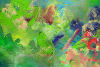 ölfarben farben opak dick pinselstriche grüntöne