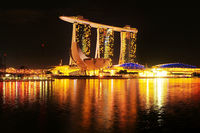 Marina Bay Hotel at night