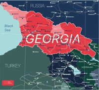 Georgia country detailed editable map