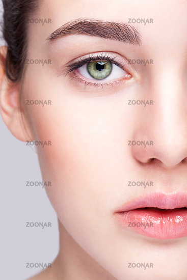 Female face with day makeup