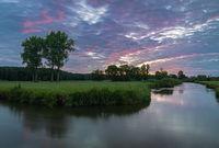 Dawn at Paar river in Bavaria, Germany