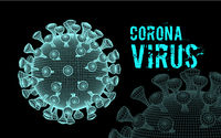 Coronavirus 2019-nCoV virus. Vector 3d illustration on black