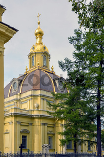 Historical orthodox Christian church in Saint Petersburg