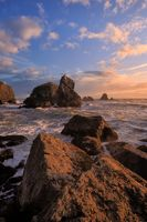 Sunset at a Rocky Northern California Beach
