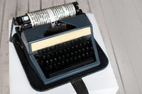 Antique typewriter aged paper Creativity inspiration writing concept