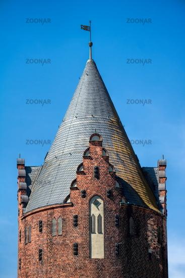 Bernau near Berlin, Germany - April 30th, 2019 - historic water tower